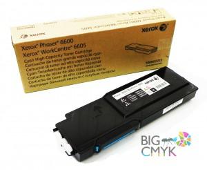 Тонер-картридж голубой (6K) Phaser 6600/WC 6605
