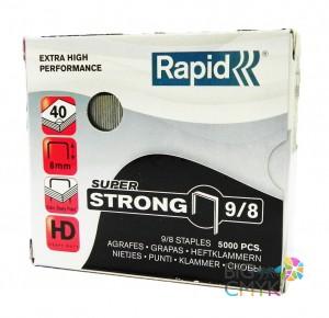 Скобы Rapid 9/8 усиленные (5000 шт.)