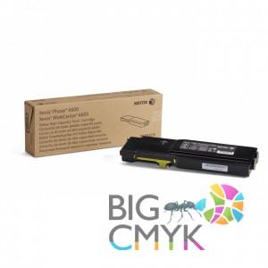 Тонер-картридж желтый (6K) Phaser 6600/WC 6605