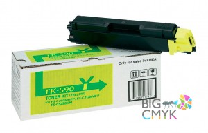 Тонер-картридж желтый TK-590Y Kyocera FS-C5250DN/C2026/2126/2526/2626MFP/P6026CDN