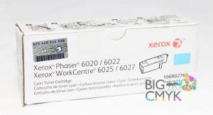 Тонер-картридж голубой (1K) Xerox Phaser 6020/6022 WC 6025/6027