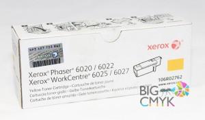 Тонер-картридж желтый (1K) Xerox Phaser 6020/6022 WC 6025/6027