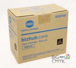 Тонер черный TNP-51K Konica-Minolta bizhub C3110