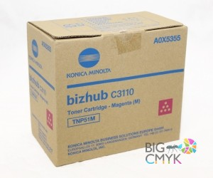 Тонер пурпурный TNP-51M Konica-Minolta bizhub C3110