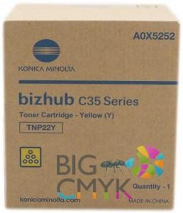 Тонер желтый TNP-22Y Konica-Minolta bizhub C35